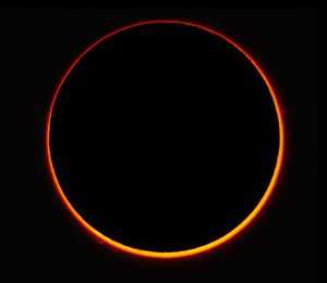 2016 annular solar eclipse above Madagascar