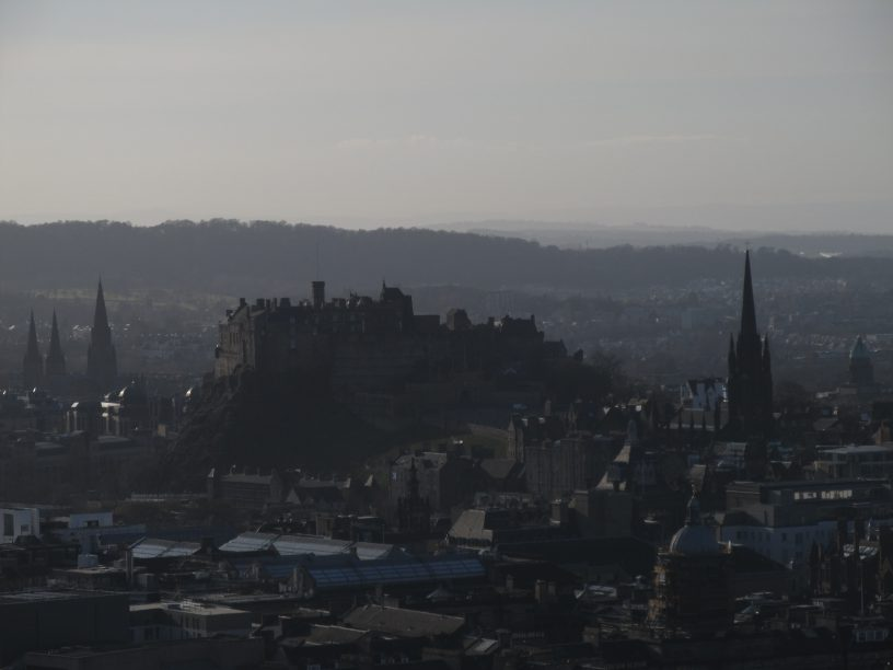 Edinburg Old Town seen from Arthur Seat