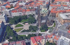 Google Earth, Prague city centre