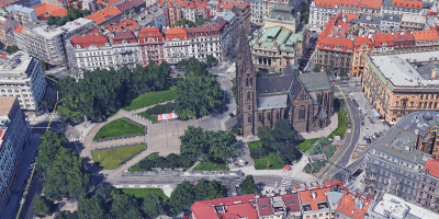 Google Earth, Prague city centre