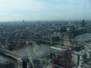 Thames river and South Bank from Walkie Talkie Sky Garden