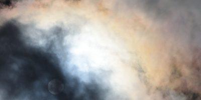 Light diffraction on cumulus humilis cloud