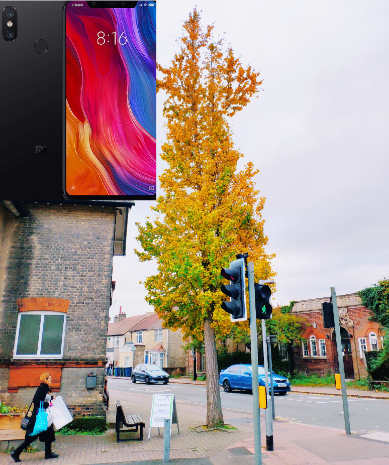 Xiaomi Mi 8 global version image retouch