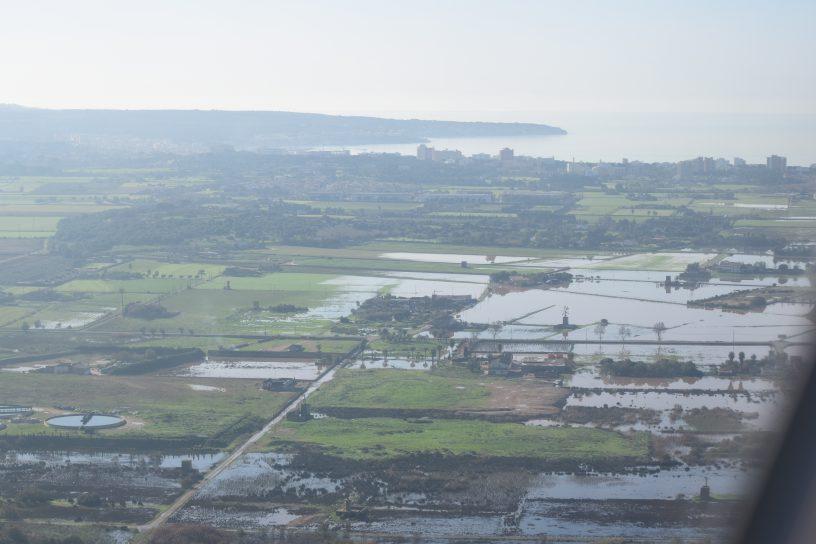 Flood at Mallorca seen from EasyJet