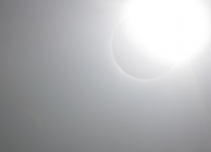 Solar corona visibility outside the total solar eclipse