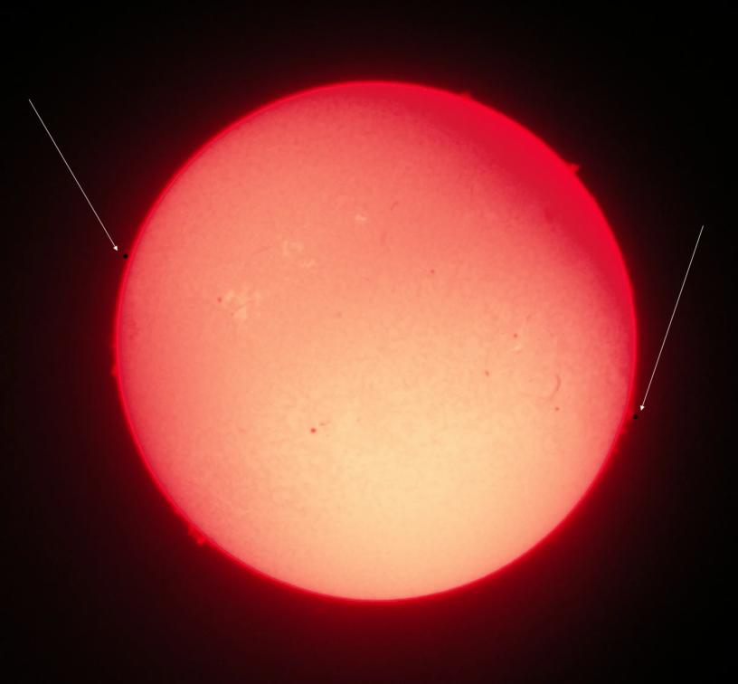 Transit of Mercury H alpha visualization