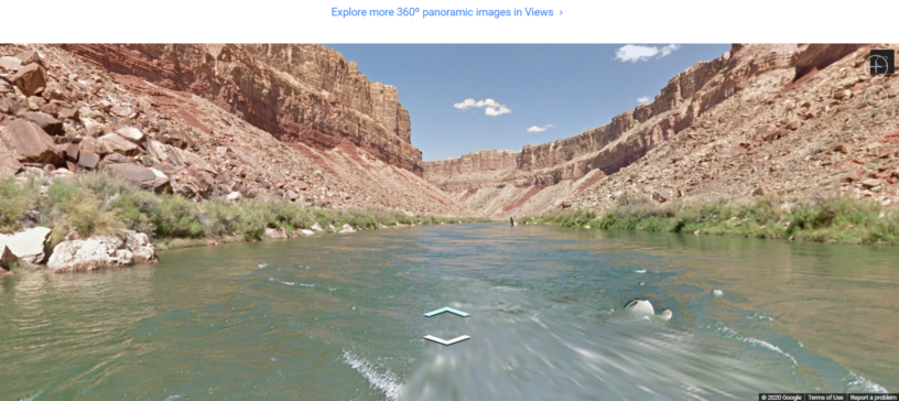 Google trekker Colorado river