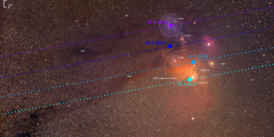 Scorpius, the ANtares and Meisser 4 region with Venus orbit path Mariusz Świętnicki
