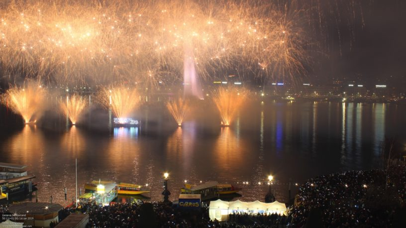 New Year's celebration in Geneve Deckchair Grand Hotel Kempinsky