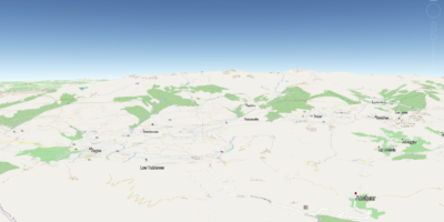 OpenStreetMap overlay in Google Earth 3D layer