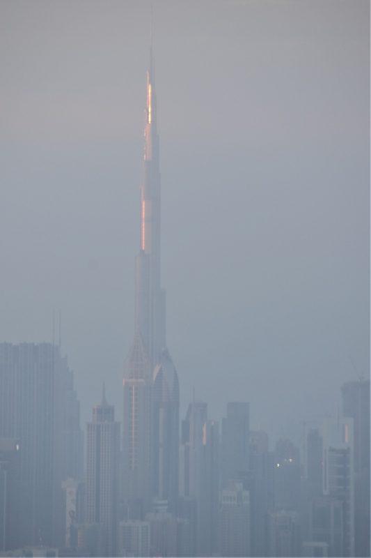 Burj Khalifa at the sunrise